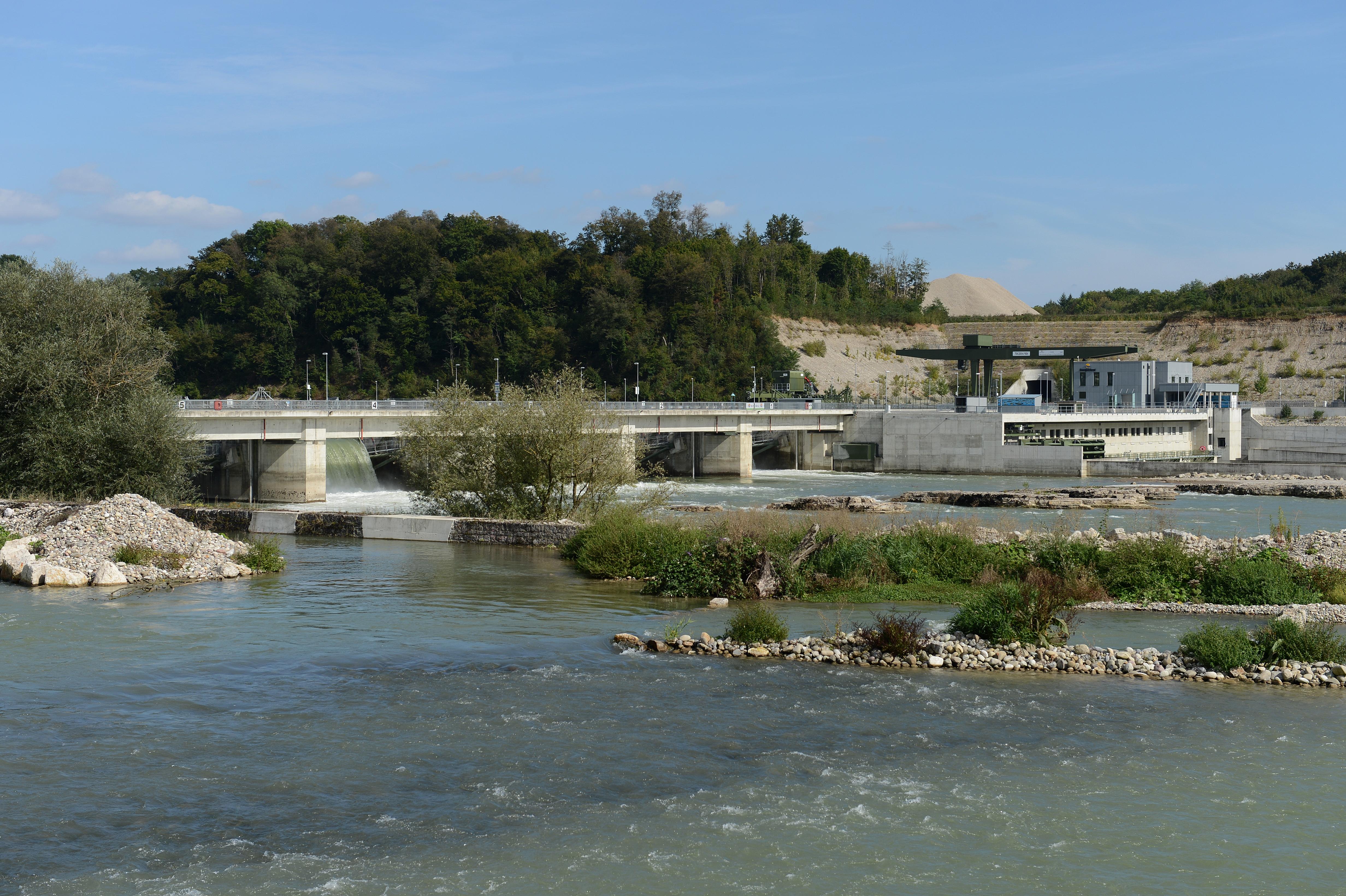 Umgehungsgewässer am WKW Rheinfelden , September 2013